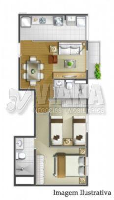 Spazio Dell Arte de 02 dormitórios em Campestre, Santo André - SP