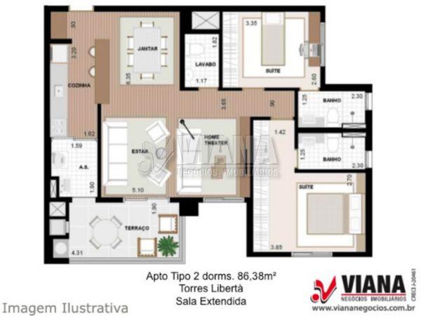 Vivacita de 02 dormitórios em Jardim São Caetano, São Caetano Do Sul - SP