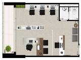 Sala 40 m²
