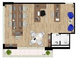 Sala 44 m²