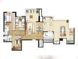 Planta Penthouse 2 Dorms.