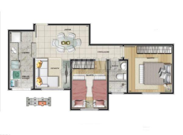 Spazio San Gotardo de 01 dormitório em Vila Homero Thon, Santo André - SP