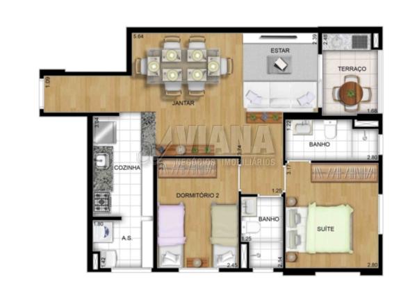 Club View de 02 dormitórios em Vila América, Santo André - SP