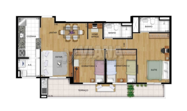 Apartamentos de 2 dormitórios em Vila América, Santo André - SP