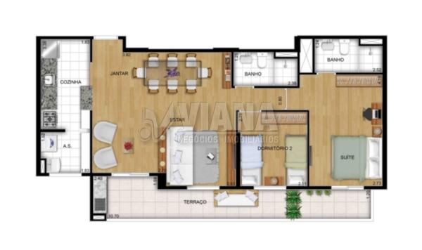 Empreendimento de 2 dormitórios em Vila América, Santo André - SP