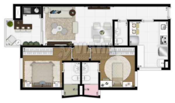 Empreendimento de 2 dormitórios em Vila Bastos, Santo André - SP