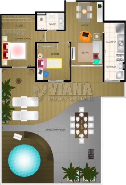 Viva Paraíso - Condomínio Praça Clube de 02 dormitórios em Jardim Jamaica, Santo André - SP
