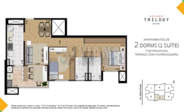 Helbor Trilogy Home de 02 dormitórios em Centro, São Bernardo Do Campo - SP