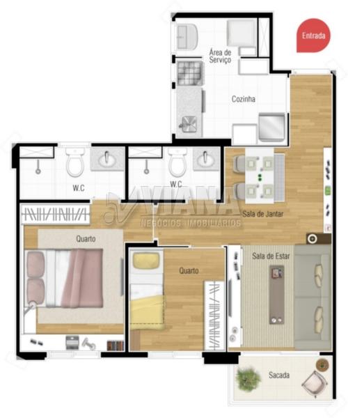 Mais Casa Branca de 02 dormitórios em Casa Branca, Santo André - SP