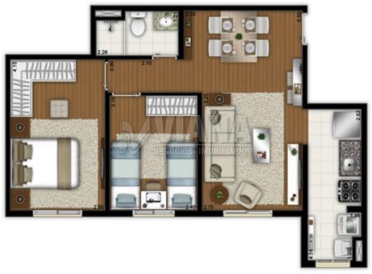 Apartamentos de 2 dormitórios em Paulicéia, São Bernardo Do Campo - SP