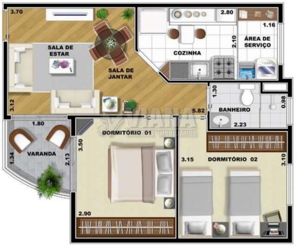 Apartamentos de 2 dormitórios à venda em Vila Euclides, São Bernardo Do Campo - SP