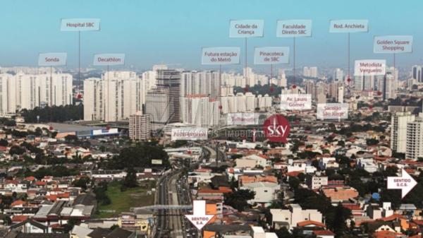 Sky Patriani de 02 dormitórios em Vila Scarpelli, Santo André - SP
