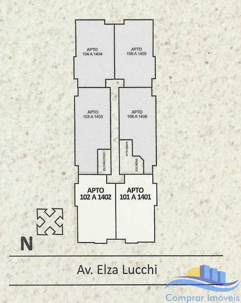 Residencial Hamburgo - Apto 3 Dorm, Ponte do Imaruim, Palhoca (234) - Foto 2