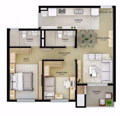 Apartamento venda em S�o Leopoldo no bairro Centro