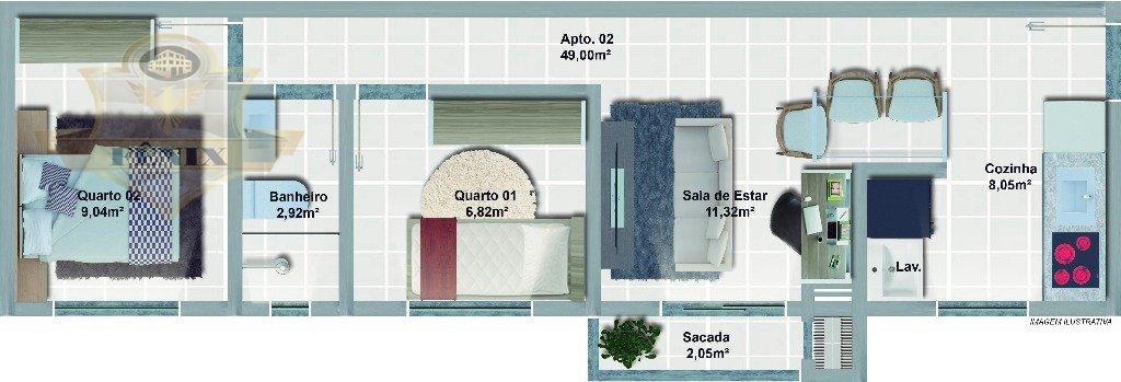 Apartamento Joinville Costa e Silva 1991938