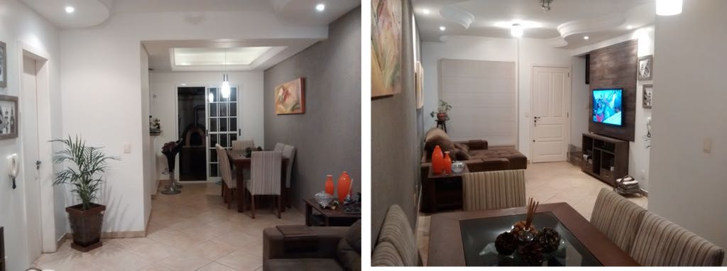 Casa de dois dormitórios e duas vagas na garagem em condomínio fechado, no bairro Protásio Alves em Porto Alegre. Living para dois ambientes, banheiro social, cozinha e área de serviço. Condomínio com portaria 24 horas, fitness, piscinas adulto e infantil, salão de festas com espaço gourmet, gás central, gradil e jardim.
