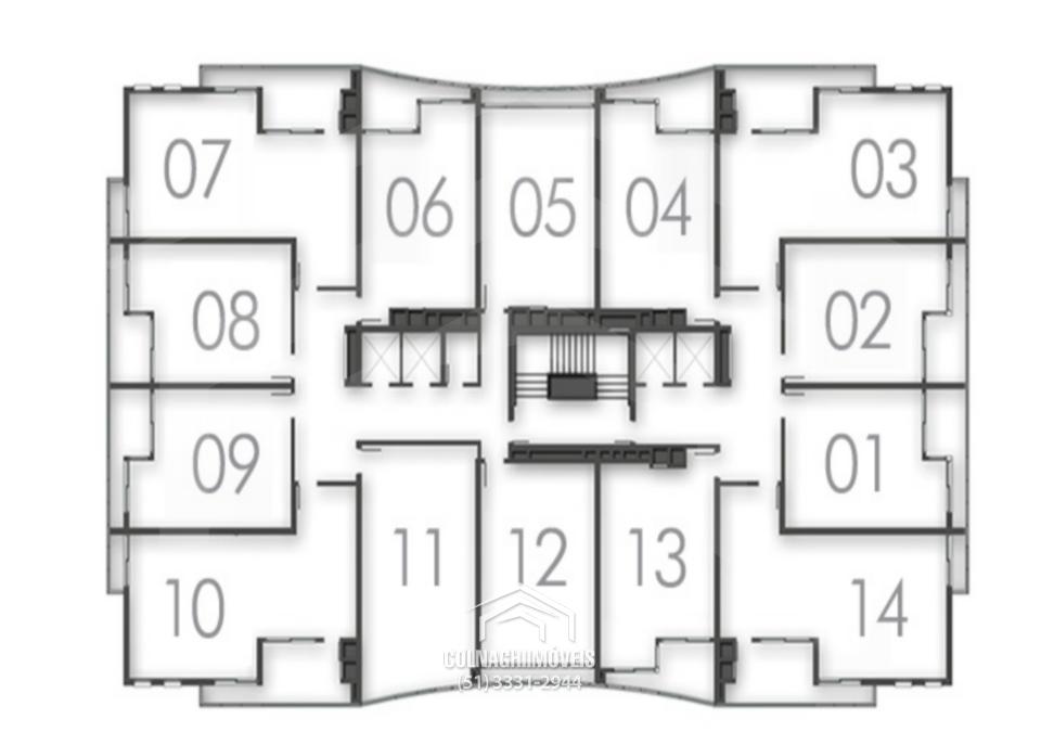 Salas/conjuntos de 2 dormitórios à venda em Jardim Botanico, Porto Alegre - RS
