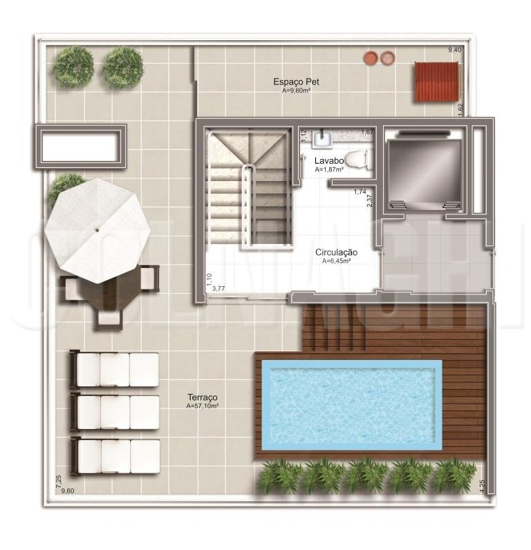 Bela Vista Square Park de 2 dormitórios em Bela Vista, Porto Alegre - RS