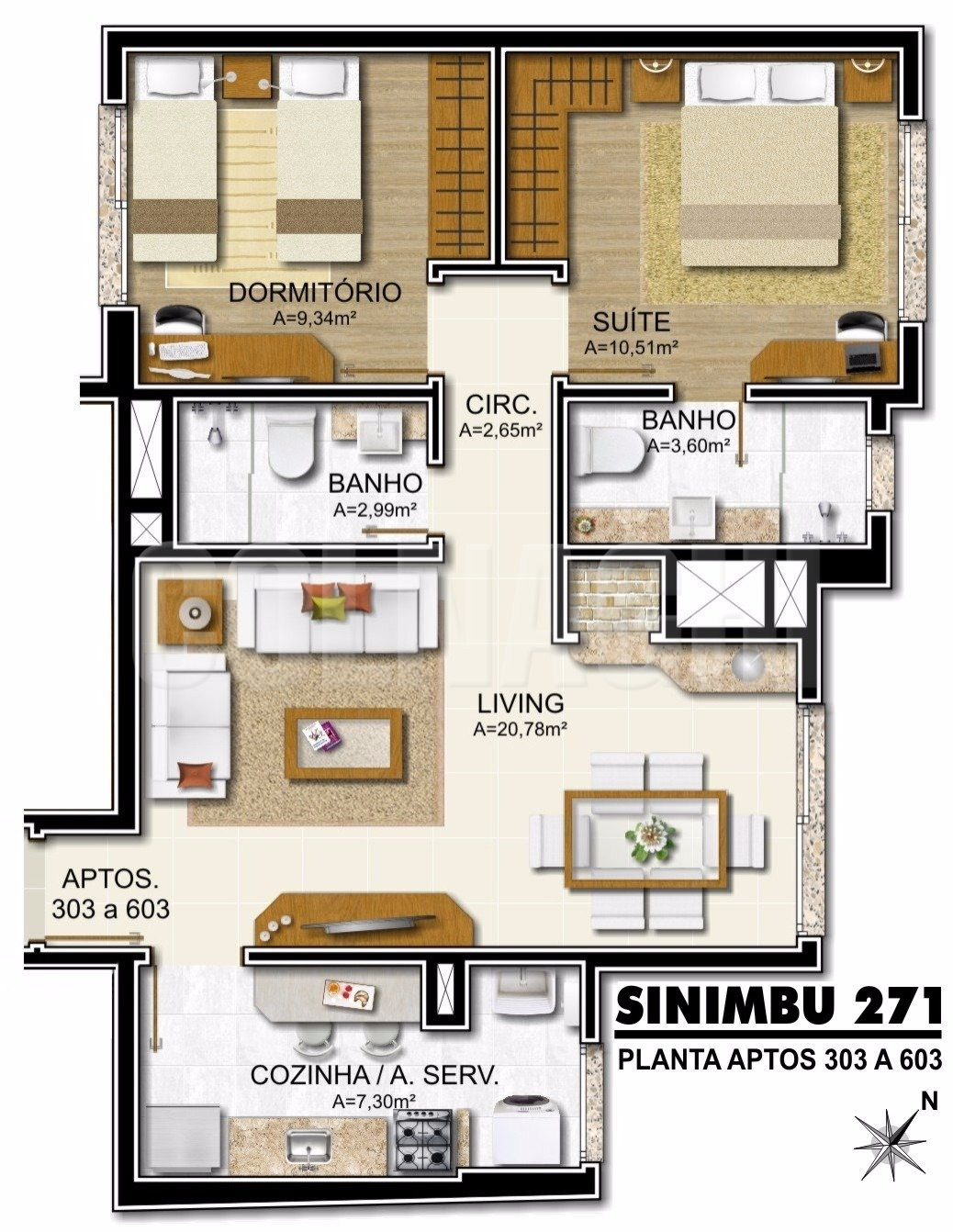 Sinimbu 271 de 2 dormitórios em Petropolis, Porto Alegre - RS