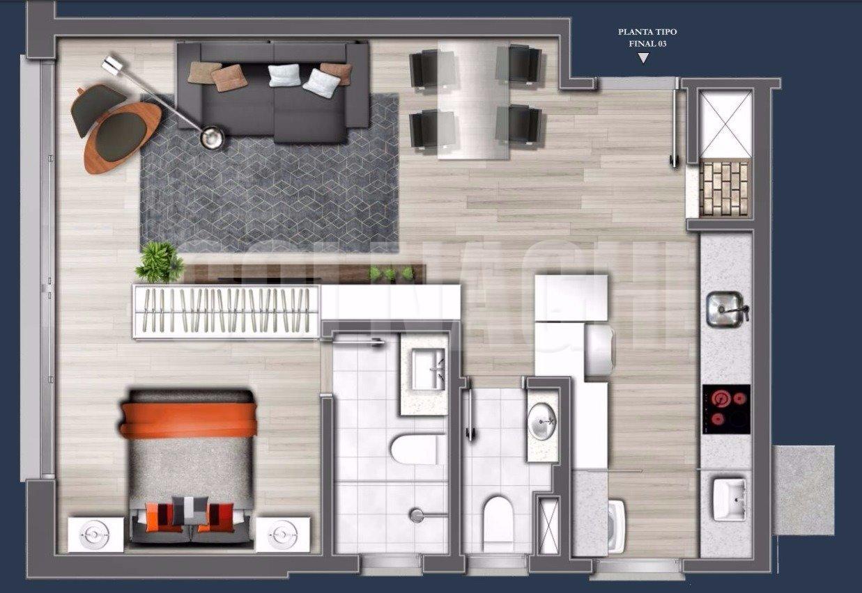 Emilio 111 Residencial de 1 dormitório em Tres Figueiras, Porto Alegre - RS