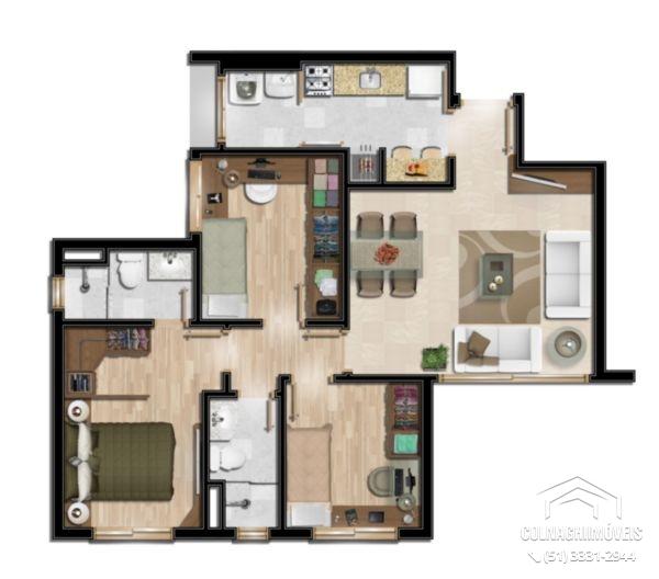 Villa Floratta de 3 dormitórios em Moinhos De Vento, Porto Alegre - RS