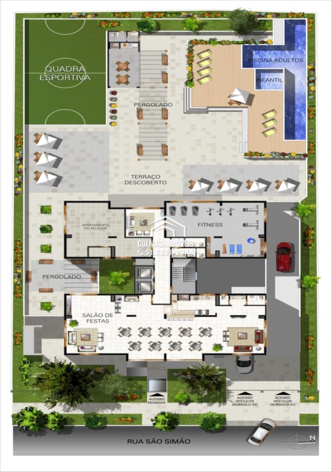 Vlila Ravenna de 2 dormitórios em Jardim Botanico, Porto Alegre - RS