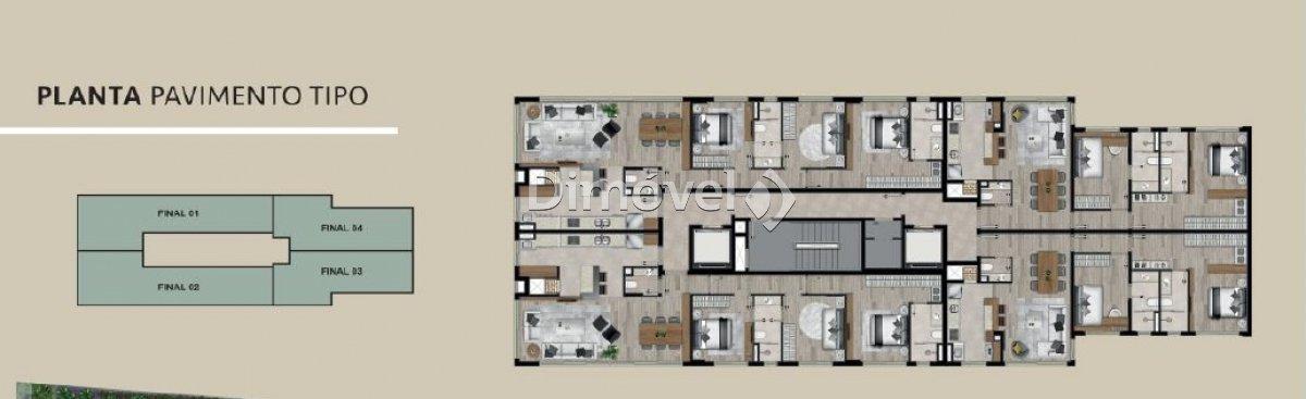 026 - Planta apartamento Tipo