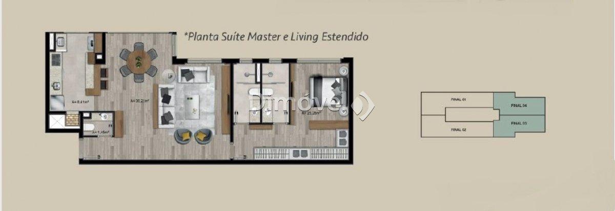 029 - Planta 82m² - Living Estendido