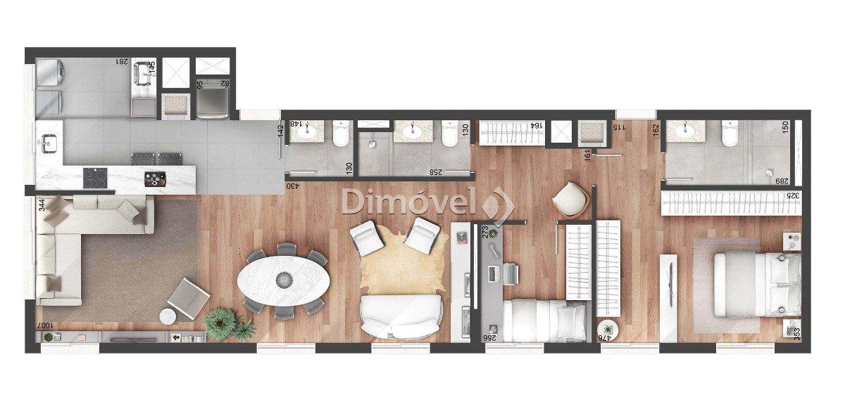018 - Planta opcional 108m² - Junção (65m +   43m)