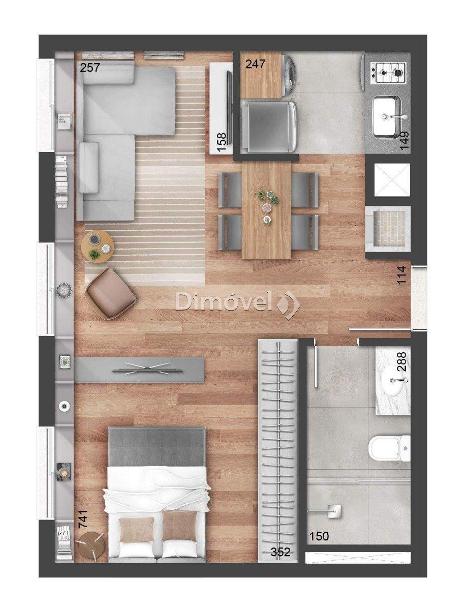 016 - Planta 43m² - Studio