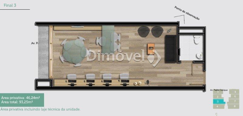 011 - Planta Modelo Escritório Arquitetura