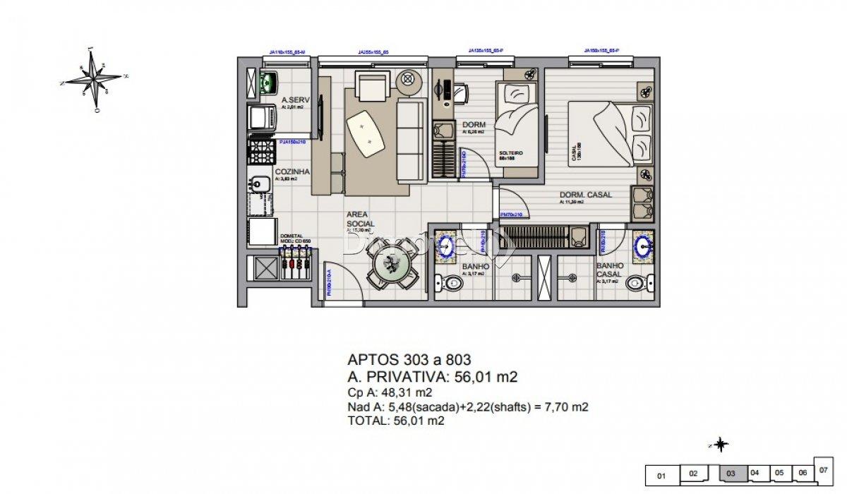 005 - Plantas Apartamentos 56,01m²