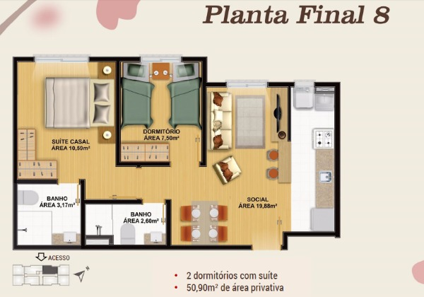 Villaggio Ventura - Apto 2 Dorm, Olaria, Canoas (102410) - Foto 12