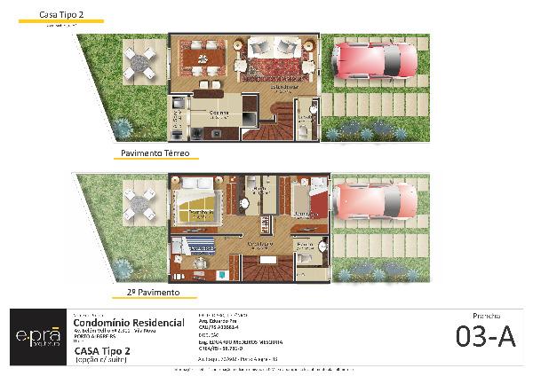 Condomínio - Casa 3 Dorm, Vila Nova, Porto Alegre (102485)