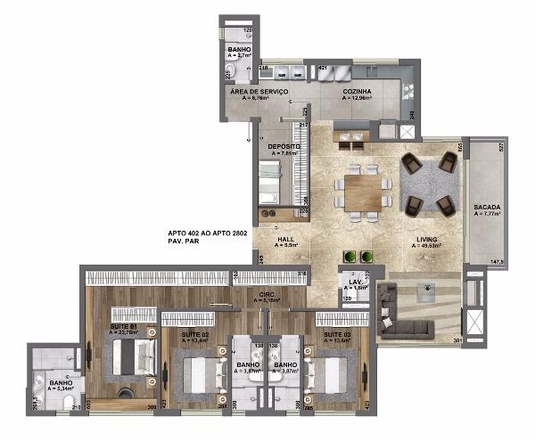 Esplendido Residencial - Apto 3 Dorm, Mauá, Novo Hamburgo (106882) - Foto 25