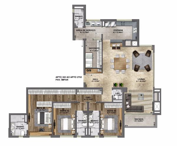 Esplendido Residencial - Apto 3 Dorm, Mauá, Novo Hamburgo (106882) - Foto 28