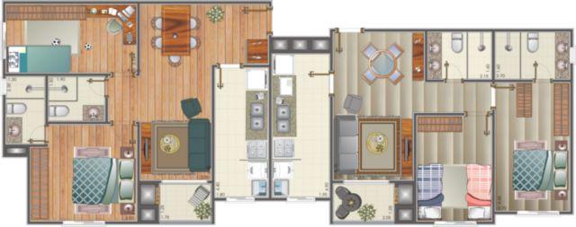 Residencial 20 de Setembro - Apto 2 Dorm, São José, Canoas (54337) - Foto 4