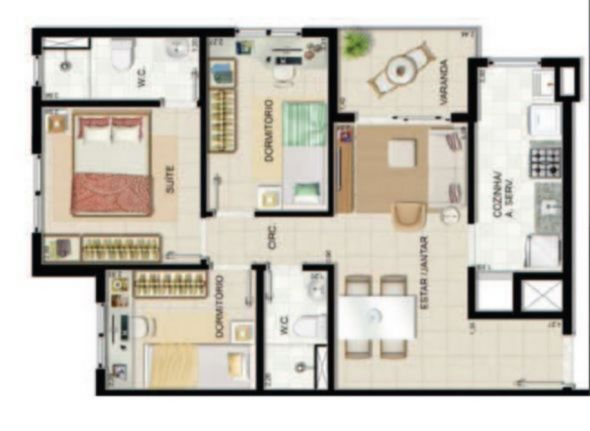 Condomínio Residencial Liberdade Alta Vista - Apto 3 Dorm, Navegantes - Foto 14