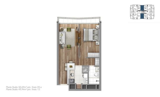 Trend Residence - Apto 1 Dorm, Petrópolis, Porto Alegre (56260) - Foto 8
