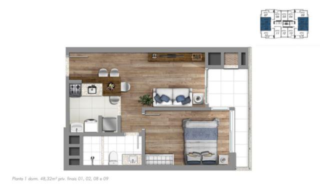 Trend Residence - Apto 1 Dorm, Petrópolis, Porto Alegre (56260) - Foto 6