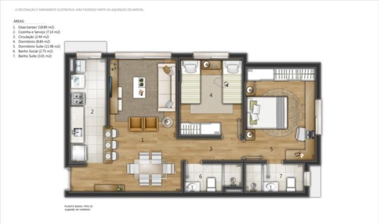 Ed. Residencial Manet - Apto 2 Dorm, Santana - Foto 6