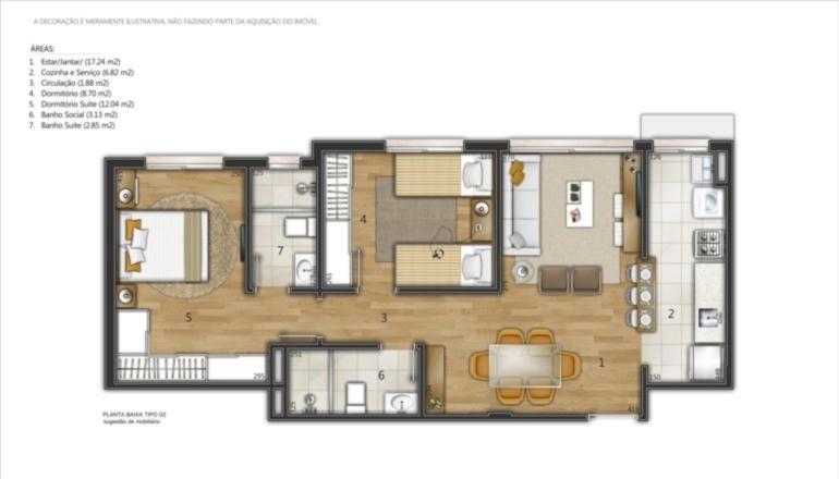Ed. Residencial Manet - Apto 2 Dorm, Santana - Foto 3