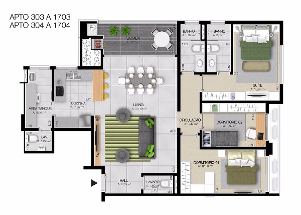 Dubai Tower Residence - Apto 3 Dorm, Centro, Esteio (61923) - Foto 16