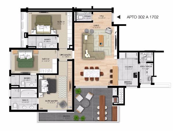 Dubai Tower Residence - Apto 3 Dorm, Centro, Esteio (61923) - Foto 15