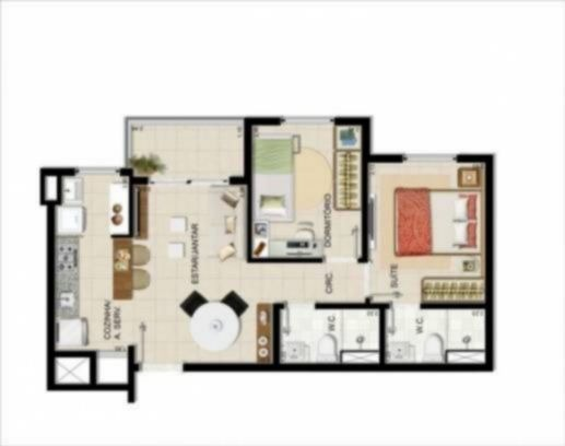 Condominio Residencial Liberdade I- Bella Vista - Apto 3 Dorm (64709) - Foto 4