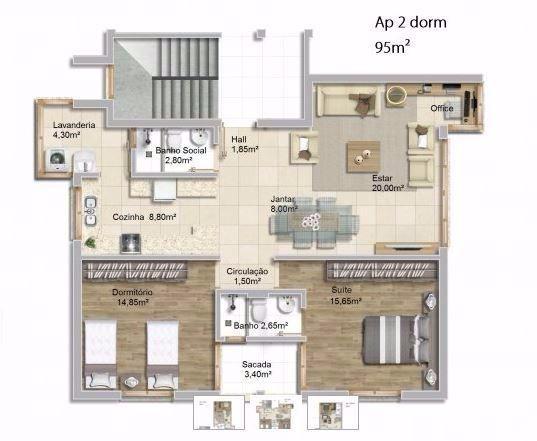 Condominio Magnus Residence - Apto 2 Dorm, Coronel Aparício Borges - Foto 6