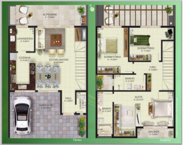 Ville Liberte III - Casa 3 Dorm, Vila Nova, Porto Alegre (96142) - Foto 4