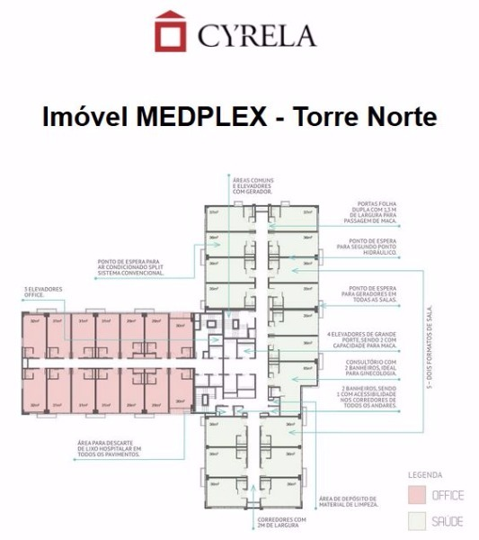 Medplex - Fase 1 - Sala, Santana, Porto Alegre (96382) - Foto 15