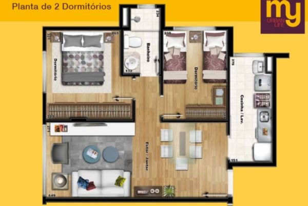 MY Urban Life - Apto 2 Dorm, São José, Porto Alegre (98547) - Foto 18