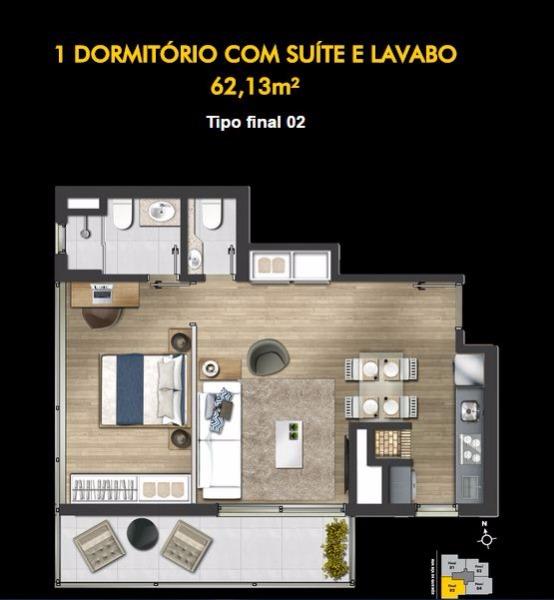 Montreal - Apto 1 Dorm, Petrópolis, Porto Alegre (99541) - Foto 6